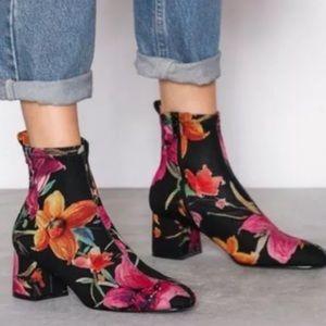 Topshop Boots Sock winter Heel Pink 7.5